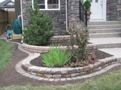 Landscaping Ideas, be inspired by this landscaping pin article # 4171600169 for creating your next garden project. Garden Front Of House, Front Garden Landscape, Front House Landscaping, Landscaping Retaining Walls, Lawn And Landscape, Backyard Patio Designs, House Landscape, Backyard Landscaping, Landscape Design