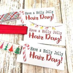 Christmas Party Favors, Christmas Gift Tags, Christmas Bells, Christmas Salon, Student Teacher Gifts, Nurses Week Gifts, Salon Signs, Holiday Hair, Headband Hair