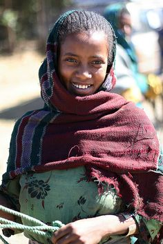 Ethiopia. I love her style. beautiful