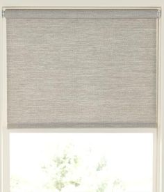 Textured Woven Shade - Final Sale - No Returns/Exchanges Window Roller Shades, Window Blinds & Shades, Blinds For Windows, Living Room Windows, Home Living Room, Waiting Room Design, Kitchen Window Coverings, Sliding Door Window Treatments, Woven Shades
