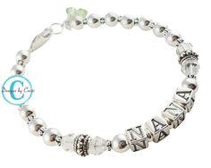 Sterling silver Nana Grandma Bracelet  beautiful by NameBracelets