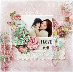 with colors by Yuko Tanaka My Creative Scrapbok LE Kit May 2015 For this layout Lemoncraft