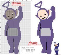 Tinky Winky the purple Teletubbies cross stitch pattern