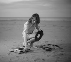beach record player. Two of my very favorite things.