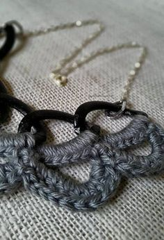 RESERVED FOR HEATHER Grey Statement Necklace by CharmedinLove