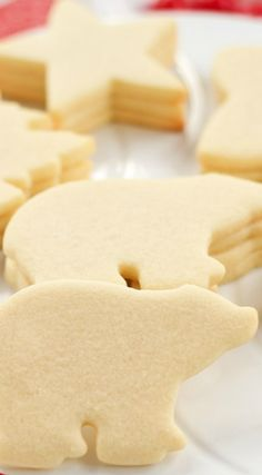 Sugar Cookies ~ It's simple to make and the cookies hold their shape when baked.... This is the ONLY Sugar Cookie Recipe You'll NEED for your Holiday Sugar Cookies