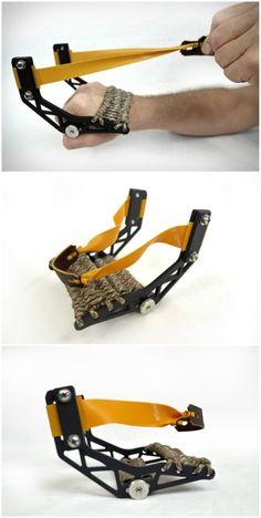 Glove slingshot