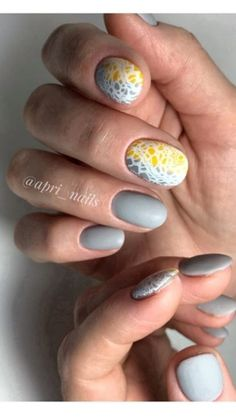 Grey Nail Art, Gray Nails, Creative Outlet, Pretty Nails, Gemstones, Beauty, Finger Nails, Gray Nail Art, Cute Nails