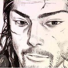 Manga Art, Manga Anime, Anime Art, Drawing Sketches, My Drawings, Vagabond Manga, Inoue Takehiko, Miyamoto Musashi, Western Comics