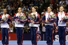 2012 Women's Olympic Team:  Gabby Douglas, Virginia Beach, Va.,  McKayla Maroney, Long Beach, Calif.,  Aly Raisman, Needham, Mass.,   Kyla Ross, Aliso Viejo, Calif.,   Jordyn Wieber, DeWitt, Mich.