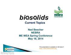 Biosolids Topics - Benefits & Manageable Risks