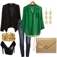 Emerald & Gold - Polyvore