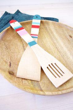 {DIY} Pimp' tes spatules en bois pour l'automne avec de la peinture !