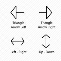 Unique and creative arrows icons from Icons Mind