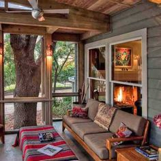 Id really like a little porch off the back of the house that looks at the back yard.