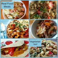 Meat and Vegetarian Whole Foods Dinner Ideas - A Proverbs 31 Wife #vegetarian #budgetmeals