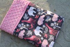 Baby Girl Minky Blanket Minky Baby by AustinEliseBaby on Etsy