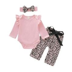 Baby Girl Clothes Leopard Printed Trousers Newborn Baby Girl Outfits Set Cute Infant Girl Clothing With Hat Spring Autumn  Baby Outfits Newborn, Baby Girl Newborn, Toddler Outfits, Baby Boy Outfits, Kids Outfits, Cute Outfits, Christmas Look, Leopard Print Pants, Long Sleeve Bodysuit