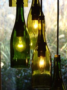 Wine bottle lamp! Cool!