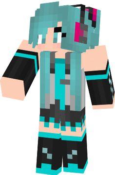 Miku Vocaloid - NovaSkin gallery - Minecraft Skins