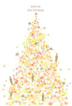クリスマスツリーイラスト(Y様ご注文分) Christmas Events, Noel Christmas, Christmas Is Coming, Christmas And New Year, Holidays And Events, Christmas Decorations, Xmas, New Year Art, Favorite Christmas Songs