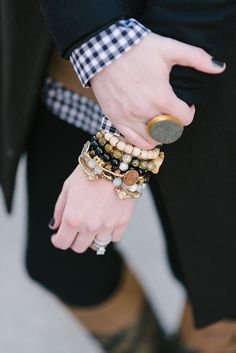Love the statement ring too from waiting on martha blog