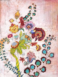 xx..tracy porter..poetic wanderlust...-Anahata Katkin Floral painting.