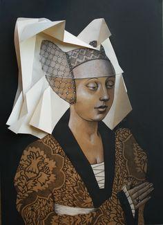 Vania Elettra Tam - Origami - sposa - 2016 - 70x50 cm - tecnica mista