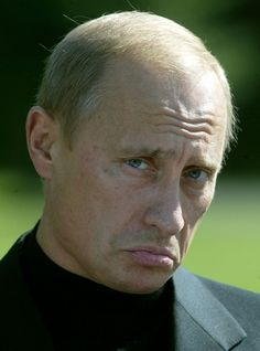 He pouts. | 32 Pictures That Prove Vladimir Putin Is Only Human