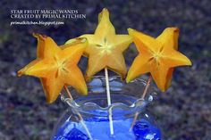 Star Fruit Magic Wands - a fast, pretty, healthy party snack for kids!