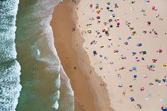 Lisbon Horizontal Beach with Waves