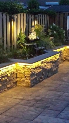 35 small backyard landscaping ideas with rocks & pool 15 Small Backyard Landscaping, Backyard Garden Design, Backyard Patio, Landscaping Ideas, Backyard Ideas, Back Gardens, Small Gardens, Outdoor Gardens, Fence Design