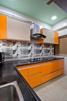 Make your #modular #kitchen's compact look with a well-planned designing and furniture arrangements.