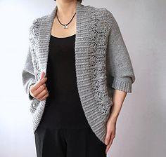 Ravelry: Madeline - lace border shrug cardigan pattern by Vicky Chan