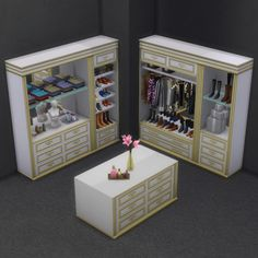 brazenlotus: Get Famous Closet Set - The Sims 4 Sims 4 Mods, Sims 3, Sims 4 Teen, Sims 4 Game, Maxis, Tiny House Layout, House Layouts, Muebles Sims 4 Cc, Sims 4 Bedroom