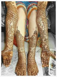 Mehandi design for hand and feet