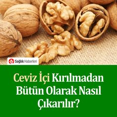 How is the whole walnut removed without breaking? # Walnuts # Sağlıkhaber of the How is the whole walnut removed without breaking? # Walnuts # Sağlıkhaber of the Easy Cake Recipes, Filet Crochet, Stuffed Mushrooms, Food And Drink, How To Remove, Pasta, Vegetables, Health, Salud