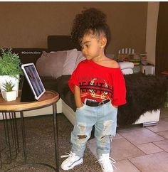 New Ideas Fashion Kids Swag Children So Cute Baby, Cute Mixed Babies, Cute Black Babies, Beautiful Black Babies, Pretty Baby, Cute Baby Clothes, Cute Babies, Baby Outfits, Outfits Niños