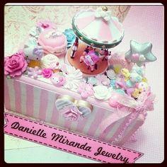 Hello Kitty Carousel Wonderland Kawaii Deco Jewelry Box, by Danielle Miranda.