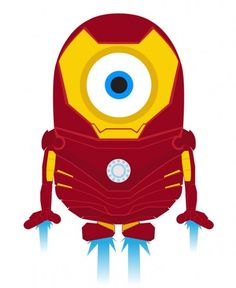 I love Iron Man. And I love minions. Together makes the awesomeness multiple.