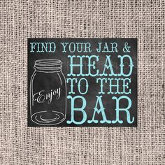 Chalkboard Mason Jar Sign Wedding Canning Jar by prettypaperparlor, $4.00