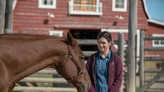 Great picture of Georgie and a horse. NEW this Sunday on CBC: Sound of Silence - Heartland
