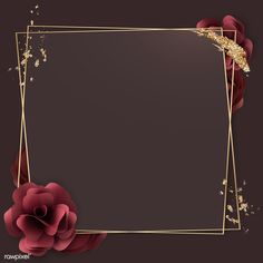 Luxurious flower and gold frame mockup Photo Frame Wallpaper, Gold Wallpaper Background, Framed Wallpaper, Frame Background, Flower Wallpaper, Background Patterns, Textured Background, Wallpaper Backgrounds, Painting Textured Walls