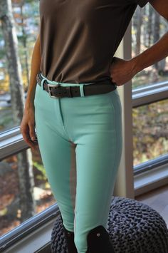 "Hold onto your Swarovski, ladies, because these breeches are from Annie's  Equestrienne Apparel. That's right, Annie's, the shop known for its ""Sweet  Schooling Clothes for Girls"" now makes riding apparel for grown-ups. The  results are fun, inexpensive, and (dare we say it?) surprisingly  sophisticated.   We're featuring a pair of Annie's Original Blue Breeches with the Dove Grey  Seat, available through Annie's online shop for only $95.00.  And yes, you  guessed right - these babies were…"