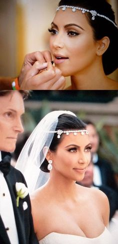even though her marriage didn't last, her makeup was gorgeous