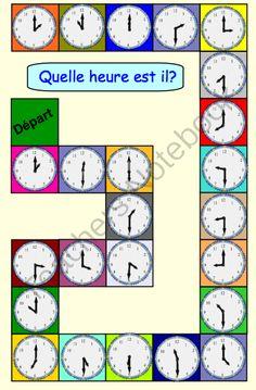 Quelle heure est-il? board game