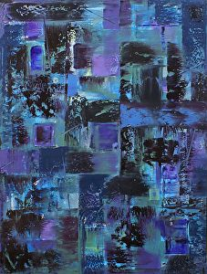 """Floating Windows by Donald Fox Oil ~ 40"""" x 30"""""""