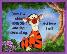 Once in a while funny quotes quote lol funny quote funny quotes humor Tigger Disney, Tigger And Pooh, Winnie The Pooh Quotes, Pooh Bear, Eeyore, Cute Quotes, Funny Quotes, Pretty Quotes, Cute Disney