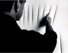"""I do not want to make a painting; I want to open up space"" Lucio Fontana #art #luciofontana #tagli #artwork #paint"