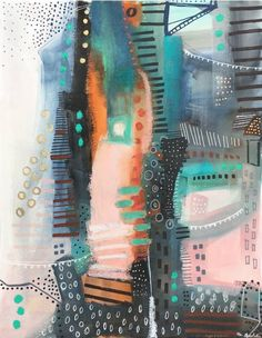 Buy Architectural, No. 3, a Watercolor on Paper by Melanie Biehle from United States. It portrays: Abstract, relevant to: pattern, bold, urban, Cityscape, Mixed Media, energetic, oil pastel, city, mark making, abstract, architecture, moody Structural abstract painting inspired by the architecture and energy of cities.